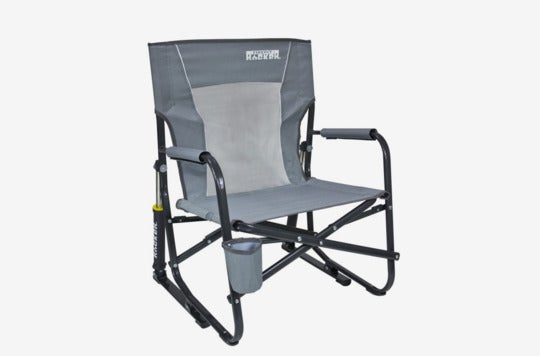 GCI Outdoor FirePit Rocker Portable Folding Low Rocking Chair.