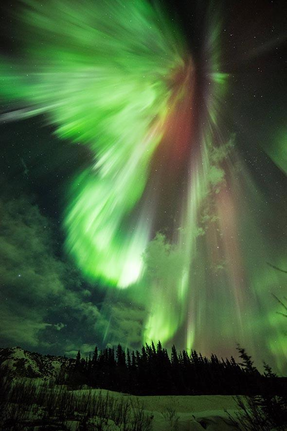 Earth experienced a geomagnetic storm and aurora visible in the