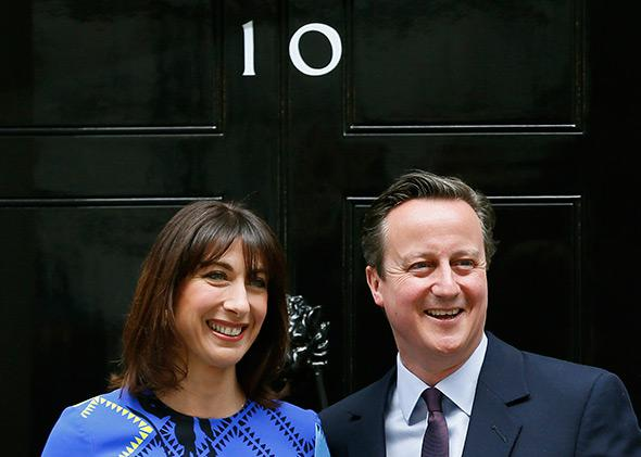 Britain's Prime Minister David Cameron after winning the election.