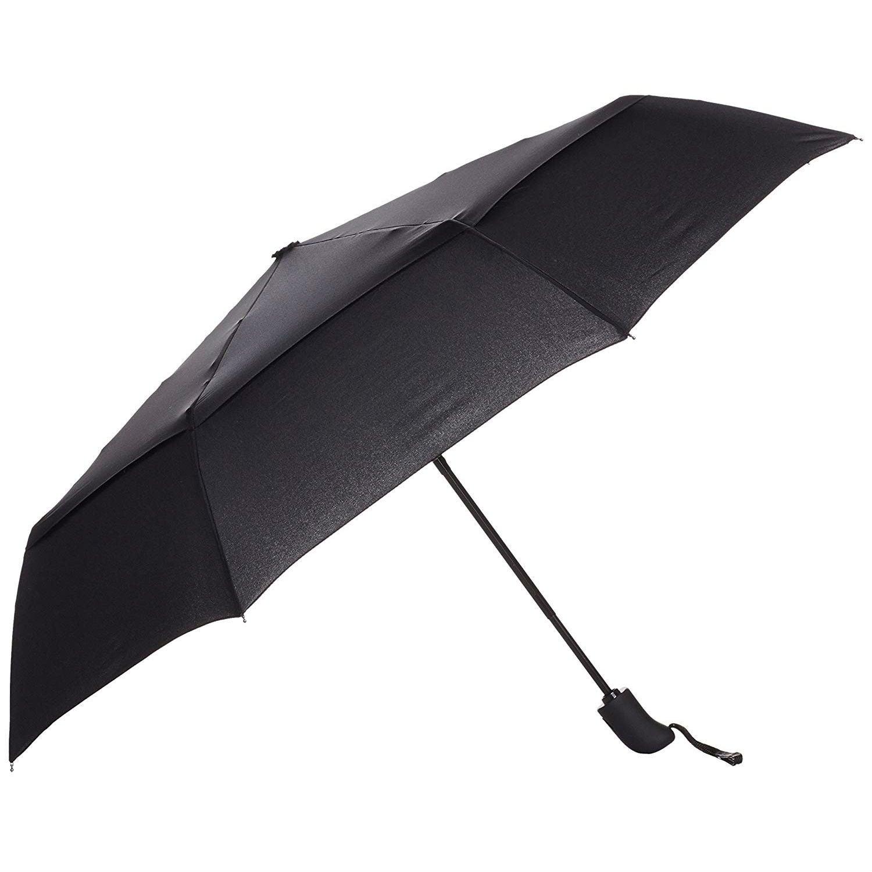 AmazonBasics Automatic Travel Umbrella with Wind Vent