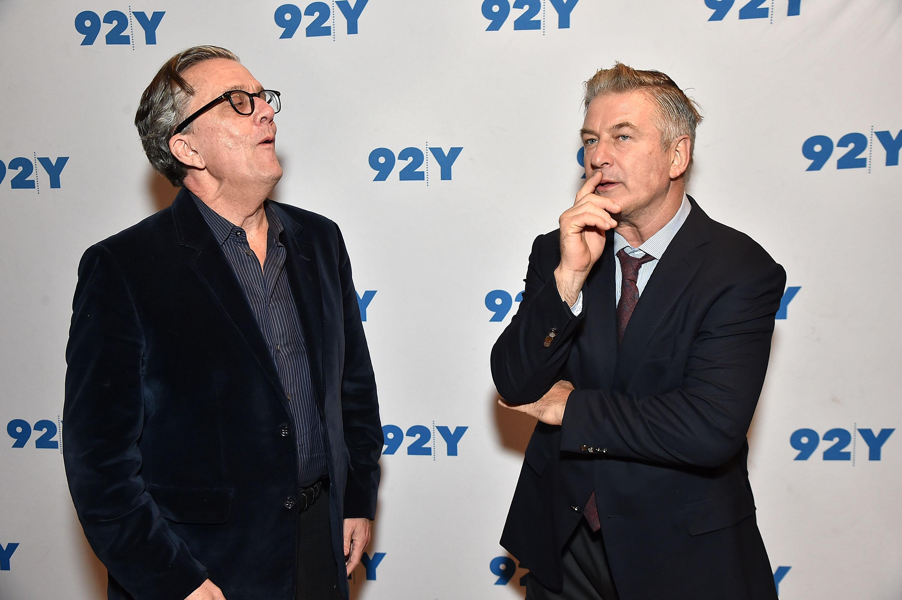 NEW YORK, NY - NOVEMBER 09:  Kurt Andersen and Alec Baldwin In Conversation With Brian Lehrer: 'You Can't Spell America Without Me' at 92nd Street Y on November 9, 2017 in New York City.  (Photo by Theo Wargo/Getty Images)