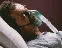 A comatose patient.
