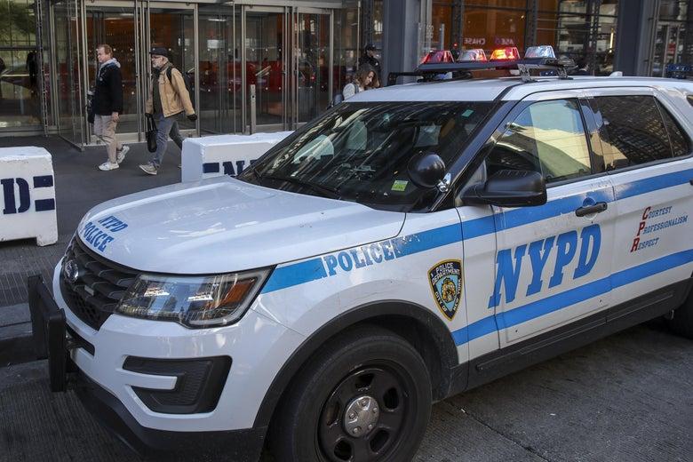 A NYC police vehicle