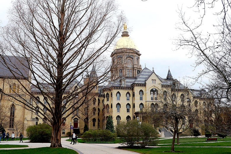 The campus of Notre Dame University.