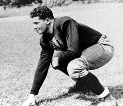 Future Pro Football Hall of Fame head coach of the Green Bay Packers Vince Lombardi poses here as a student at Fordham University circa the mid-1930s.
