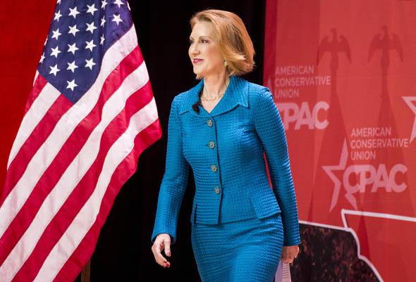 Carly Fiorina, former CEO of Hewlett-Packard, speaks at CPAC.