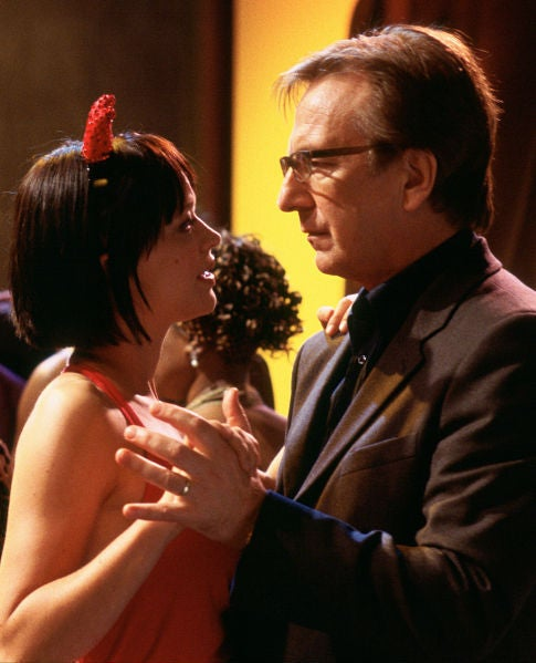 Alan Rickman and Heike Makatsch dancing at the workplace holiday party in Love Actually.