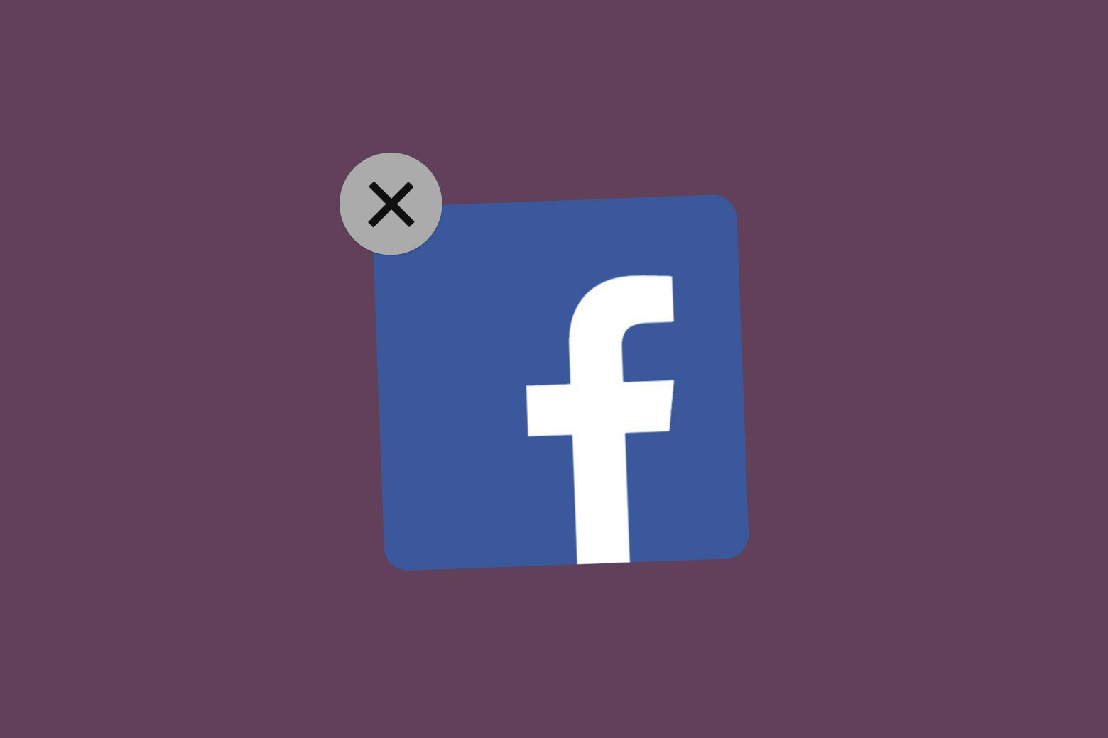 The Facebook app, ready to be deleted.