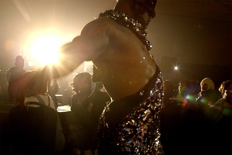 Male stripper Tony Lee.