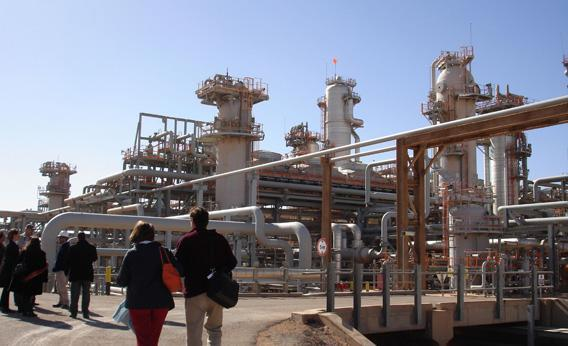 The Krechba gas treatment plant in Algeria, which is described by its managers as the world's first and largest onshore carbon capture and sequestration scheme.