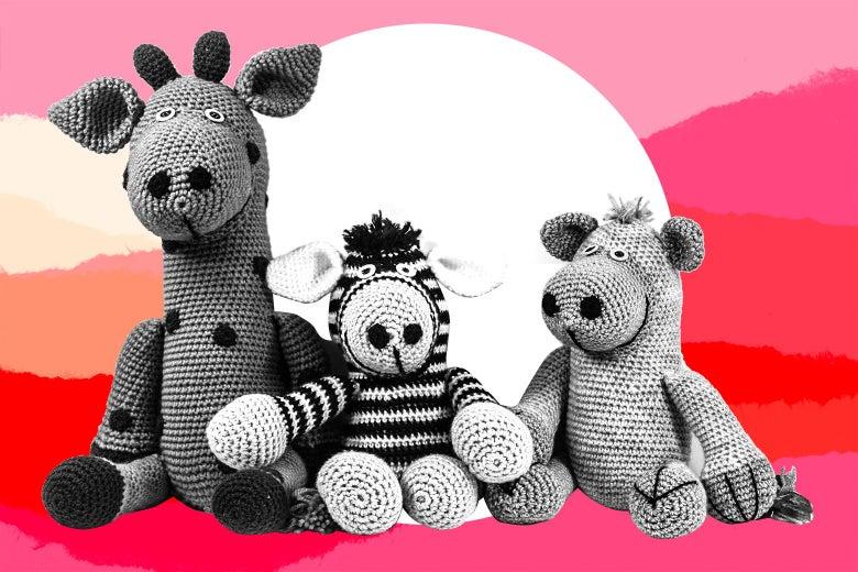 Three stuffed animals.