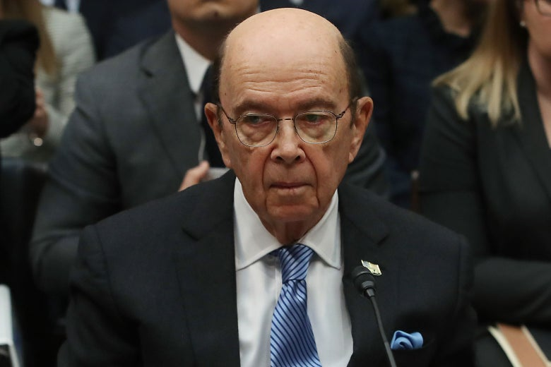 U.S. Commerce Secretary Wilbur Ross testifies on Capitol Hill on March 14 in Washington.