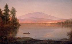 Painting of Mount Katahdin from Millinocket Camp. Click image to expand.
