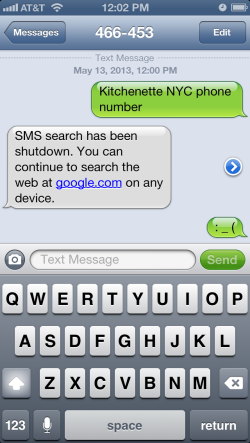 R.I.P. Google SMS search