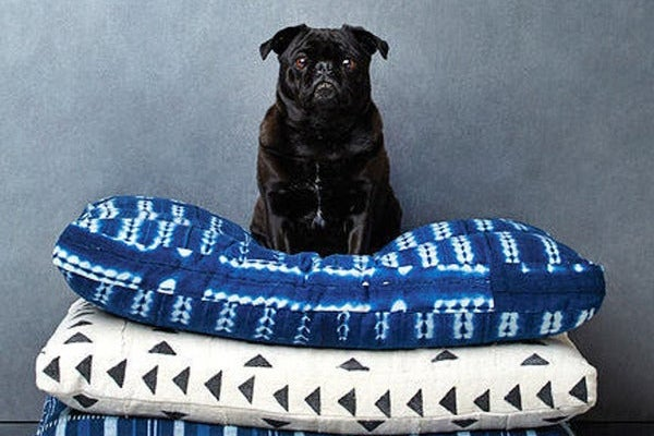 Backup Design Indigo Shibori Pet Bed // Medium