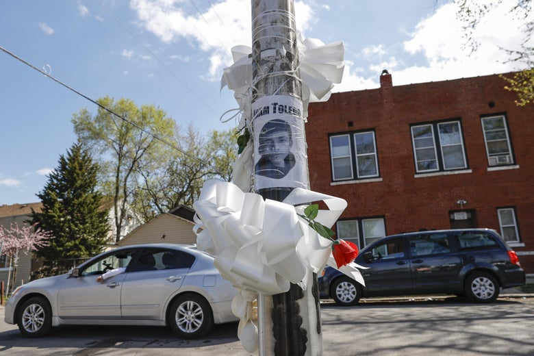 A photo of a 13-year-old boy stuck to a utility pole.