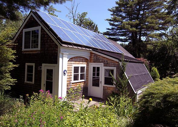 incorporated solar photovoltaic technology in their back house.