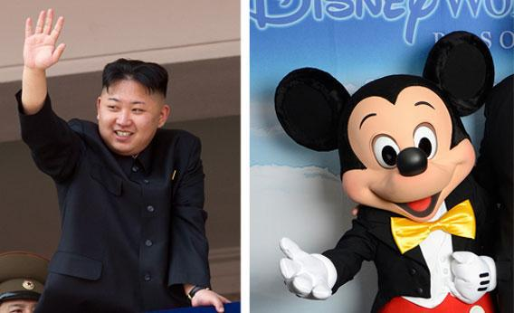 Kim Jong-Un and Mickey Mouse.