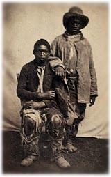 Two escaped slaves, photographed circa 1862