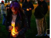 A vigil for the victims of the Virginia Tech shootings. Click image to expand.