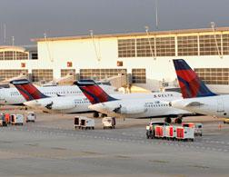 Delta jets at Detroit Metropolitan airport. Click image to expand.