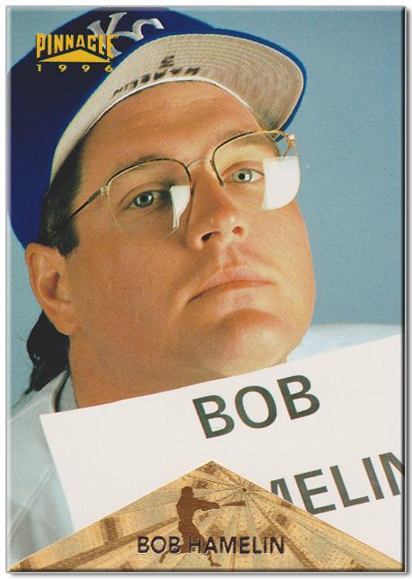 Bob Hamelin baseball card.