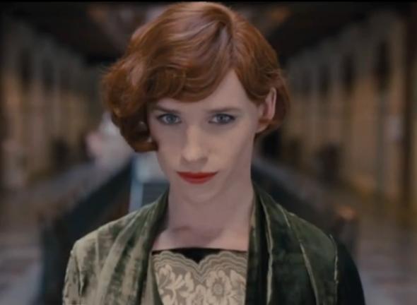 Eddie Redmayne as   The Danish Girl.