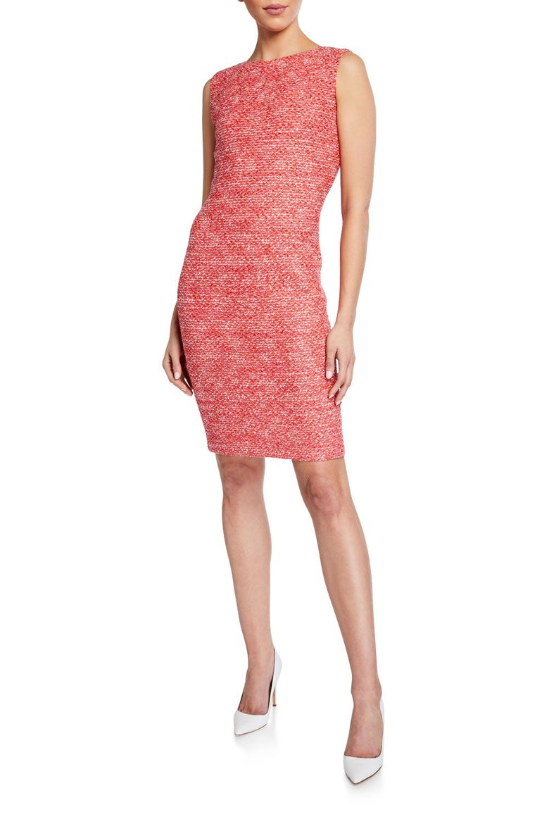 St. John Collection Marled Tweed Bodycon Dress