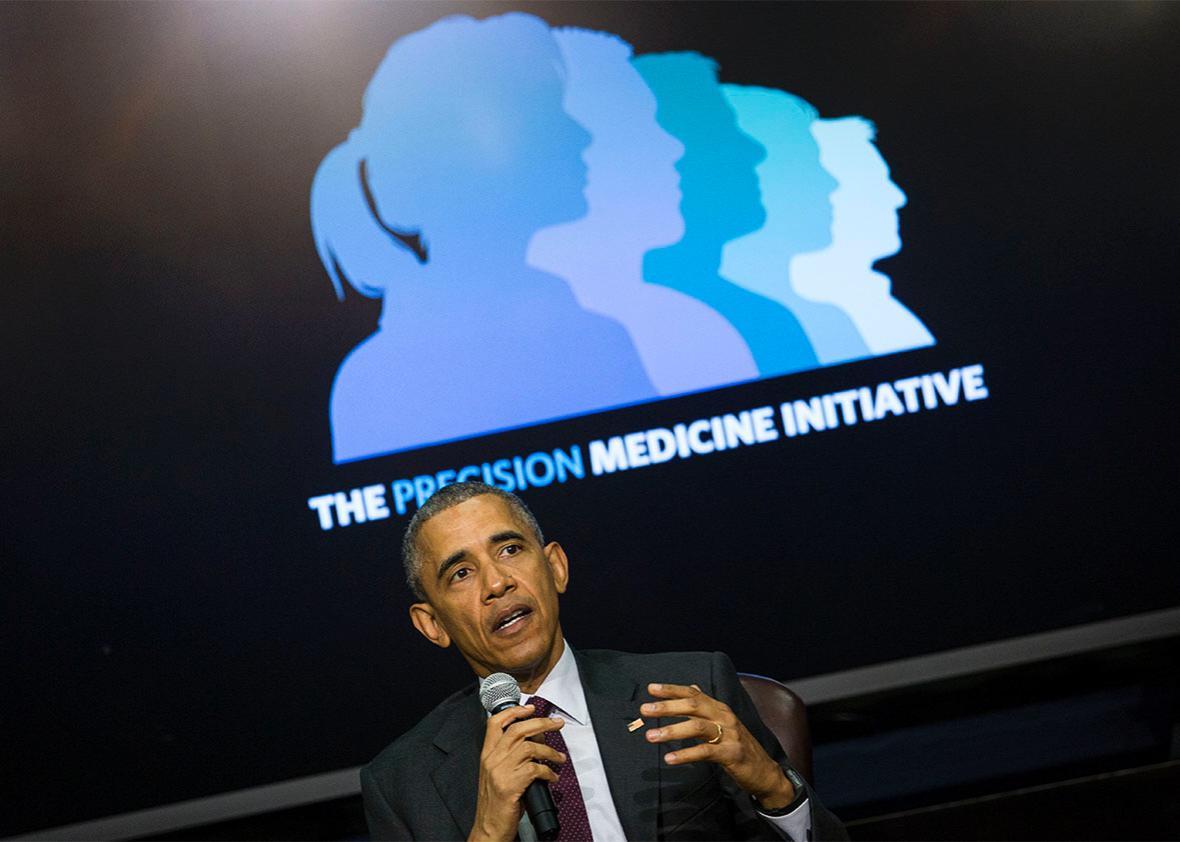 U.S. President Barack Obama speaks during the White House Precis,U.S. President Barack Obama speaks during the White House Precision Medicine Initiative Summit