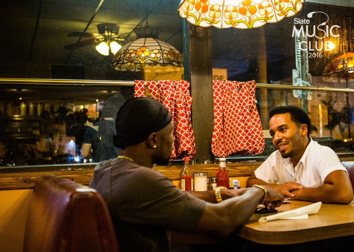 Diner scene in Moonlight