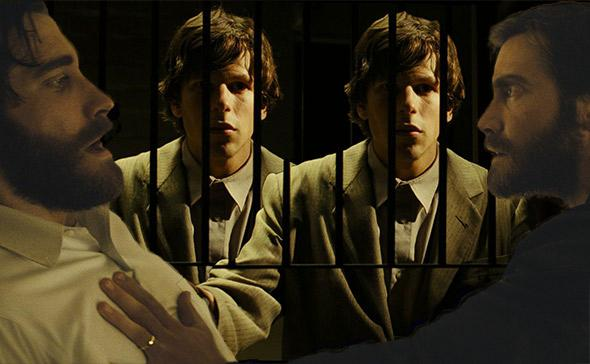 Jake Gyllenhaal in Enemy and Jesse Eisenberg in The Double.