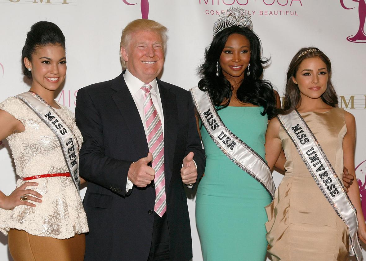Former Miss Arizona: Trump just came strolling right in