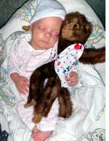 Percy with her monkey