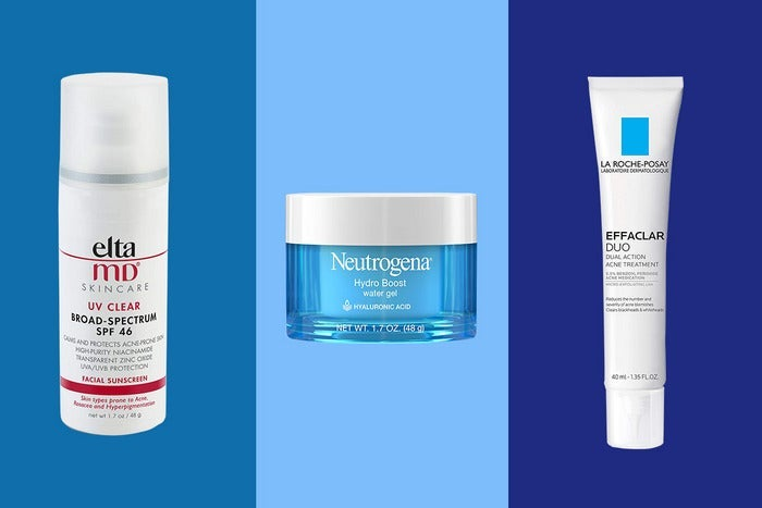 Assorted acne treatments.
