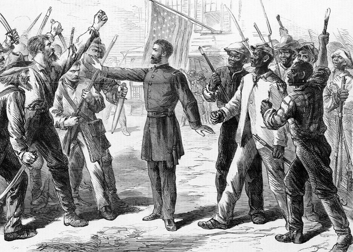 The Freedmen's Bureau / Drawn by A.R. Waud.