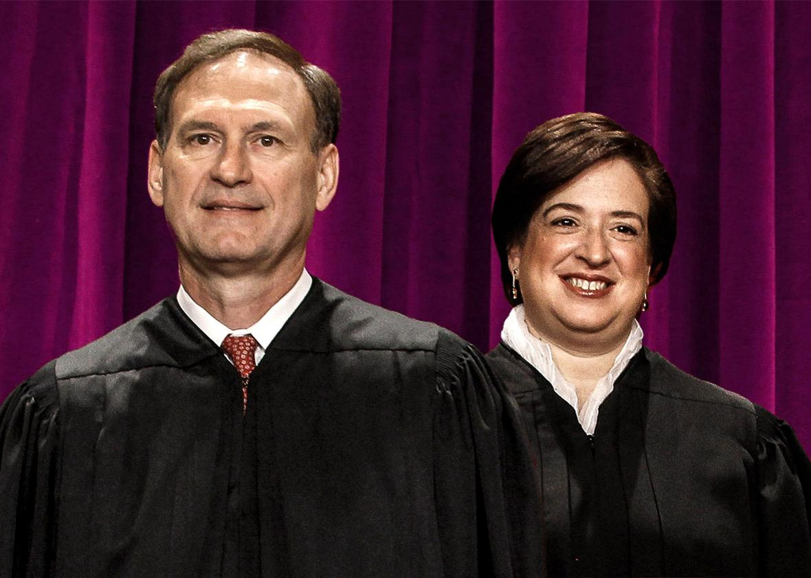 U.S. Supreme Court members Associate Justice Samuel Alito and As,U.S. Supreme Court members Associate Justice Samuel Alito and Associate Justice Elena Kagan October 8, 2010 in Washington, DC.