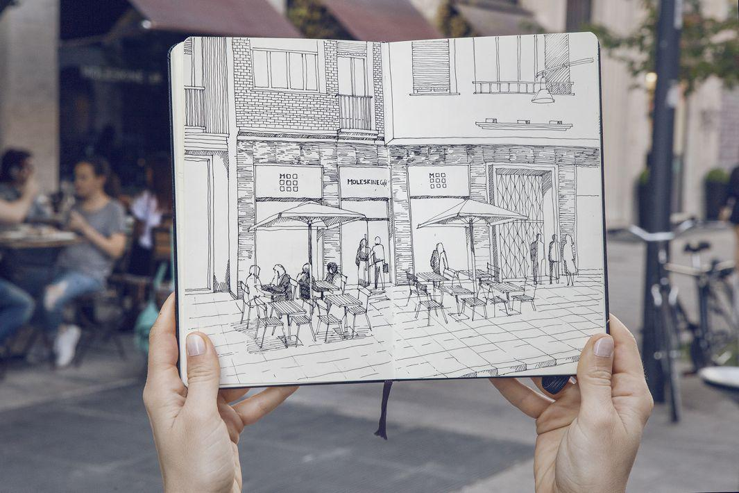 Moleskine expands its brand with a stand-alone cafe in Milan.