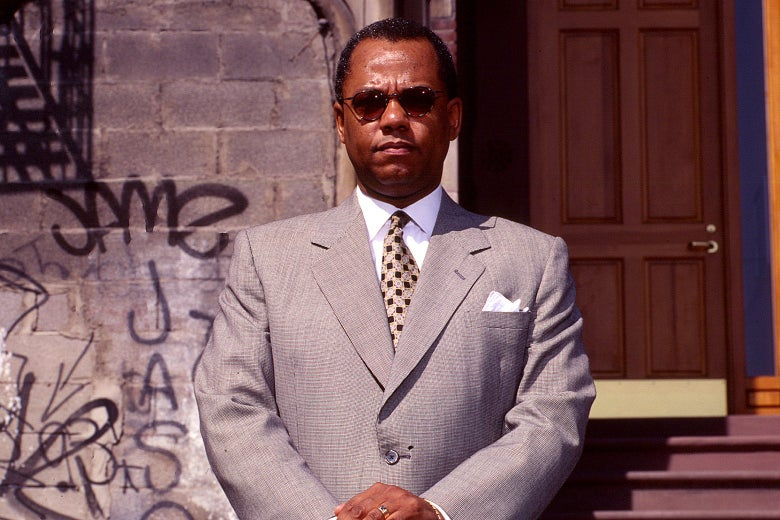 The Rev. Dr. Calvin Otis Butts III poses in Harlem, New York, in the 1990s.