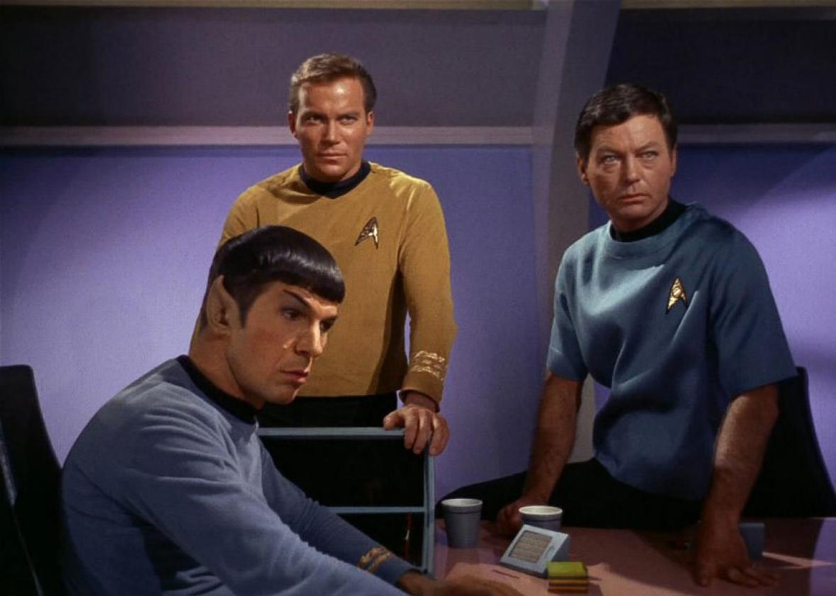 Leonard Nimoy, William Shatner and DeForest Kelley in Star Trek