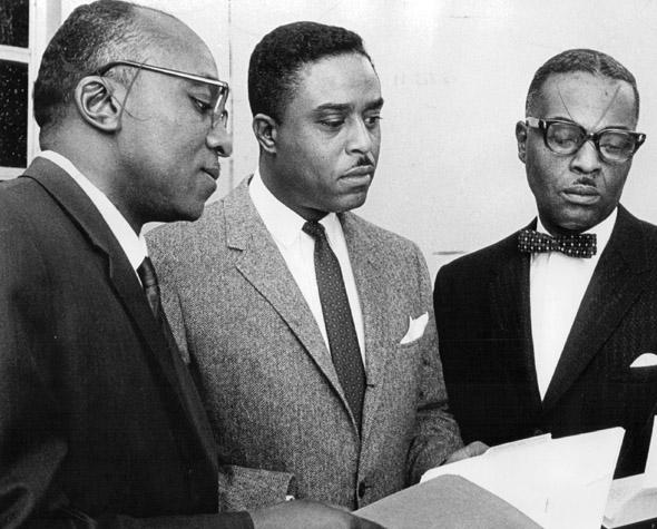 From left, Rev. Dr. M.C. Williams, State Rep. Dan Grove, D-Denver, and the Rev. J.H. Jackson Jr., 1966.