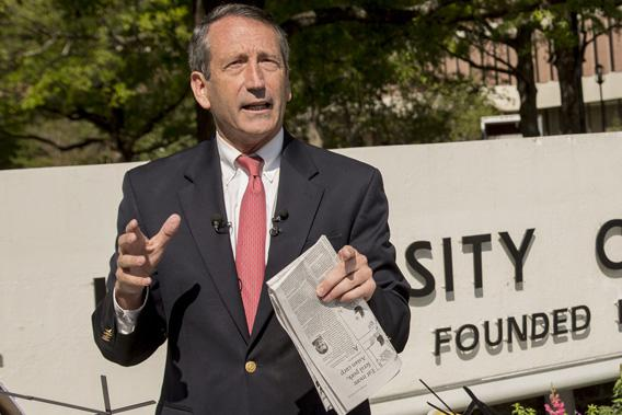 Mark Sanford campaigns in Charleston, S.C., in April.