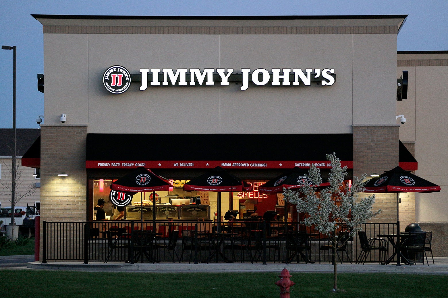 Exterior photo of a Jimmy John's in Gillette, Wyoming.