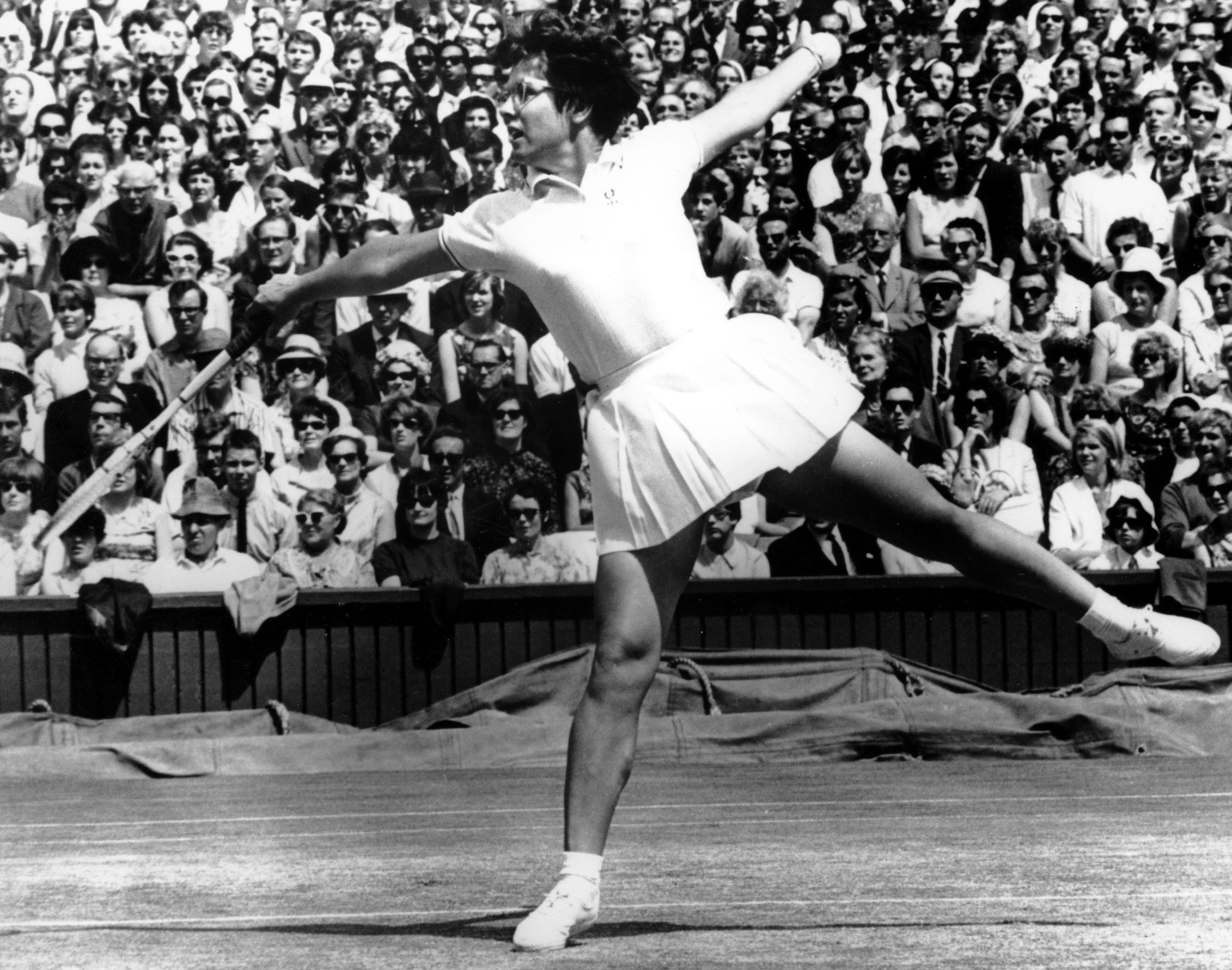 Billie Jean King at Wimbledon on July 8, 1967.
