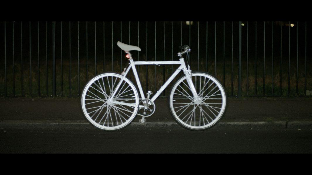 Volvo Life Paint: Invisible safety spray paint for your bike that glows in the dark.