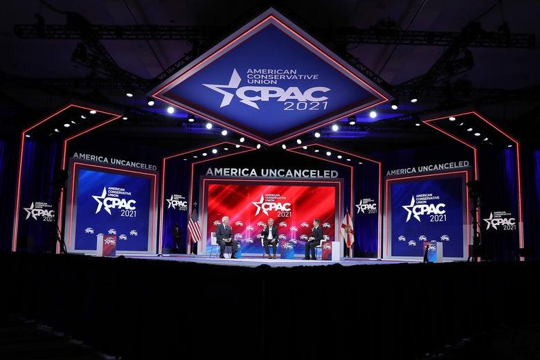CPAC Organizer Vehemently Denies Stage Was Designed to Look Like Nazi Symbol