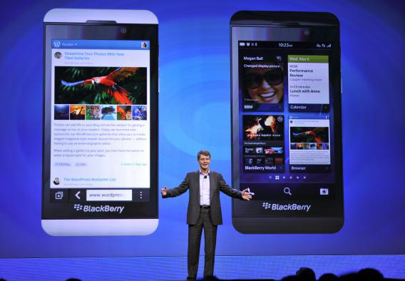 The company formerly known as Research In Motion reveals its new BlackBerry operating system and smartphone at launch event in New York City.