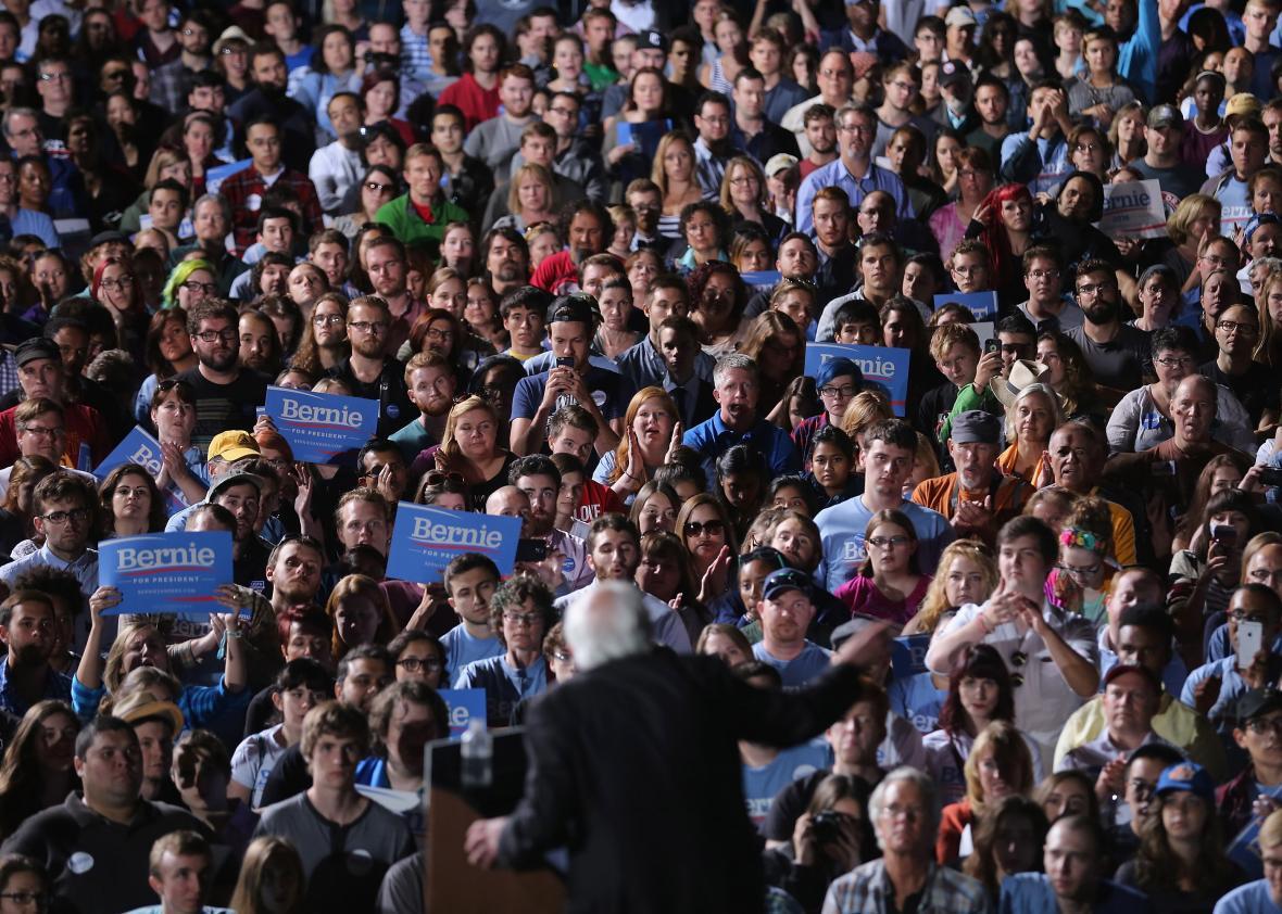 Bernie Sanders campaign rally on Sept. 14, 2015, in Manassas, Virginia.