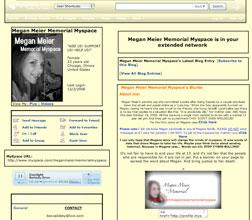 Megan Meier memorial mySpace.com site.