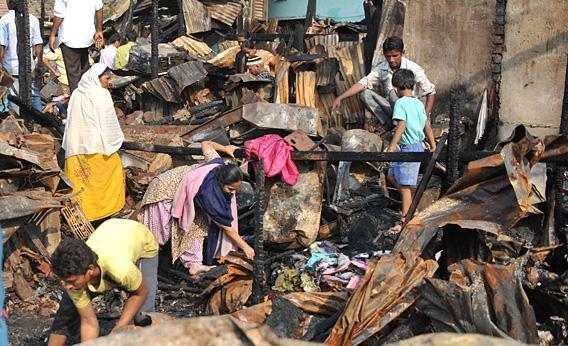 Slum in Mumbai.