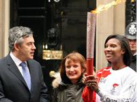 Gordon Brown, Tessa Jowell, and Denise Lewis. Click image to expand.